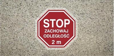 STOP zachowaj odległość 2m (ANTY012)