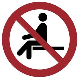 Obrazek dla kategorii Znak Zakaz siadania (857-49) Okrągły