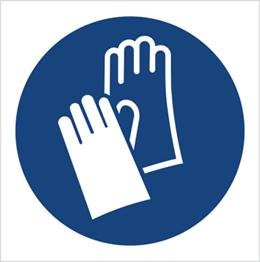 Obrazek dla kategorii Znak Nakaz stosowania ochrony rąk (M09)
