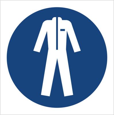 Znak Nakaz stosowania odzieży ochronnej (M10)