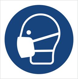 Obrazek dla kategorii Znak Nakaz stosowania maski przeciwpyłowej (M16)