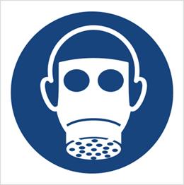 Obrazek dla kategorii Znak Nakaz stosowania ochrony dróg oddechowych (M17)