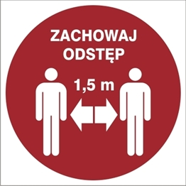 Obrazek dla kategorii Znak Zachowaj odległość 1,5m (857-50)