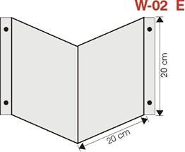 Obrazek wysięgnik wewnętrzny ścienny 20cm x 20cm