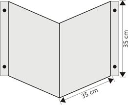 Obrazek wysięgnik wewnętrzny ścienny 35cm x 35cm
