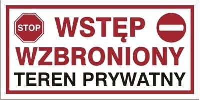 Wstęp wzbroniony Teren prywatny (704-13)