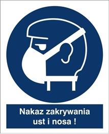 Obrazek dla kategorii Znak Nakaz zakrywania ust i nosa (423-02)