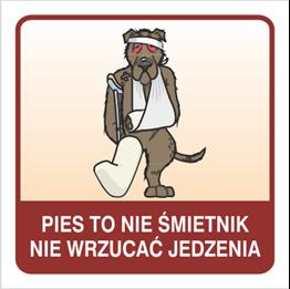 Obrazek dla kategorii Pies to nie śmietnik nie wrzucać jedzenia(823-168)