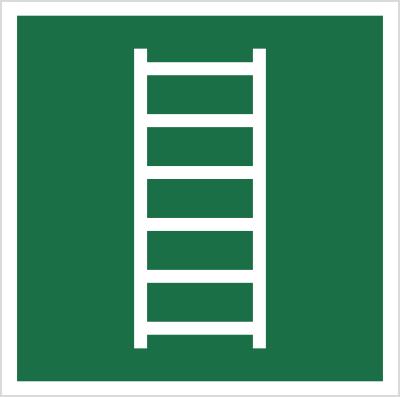 Znak drabina ewakuacyjna wg pn-en iso 7010 (E59)