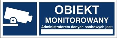 Obiekt monitorowany, administratorem danych osobowych jest…  RODO (823-181)