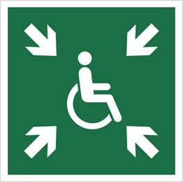 Obrazek dla kategorii Znak Miejsce zbiórki dla inwalidów (E24)