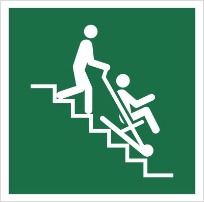 Znak Krzesło ewakuacyjne (E60)