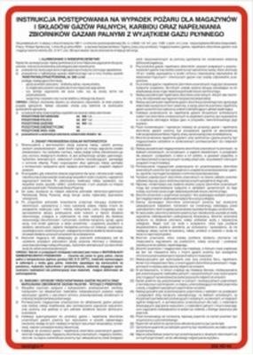 222 XO - 14 Instrukcja przeciwpożarowa dla stacji paliw płynnych (222 XO-14)